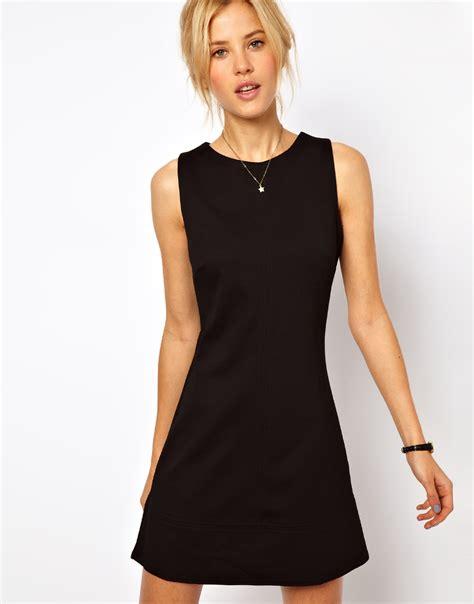 Dress Line S lyst asos 60 s a line shift dress in black