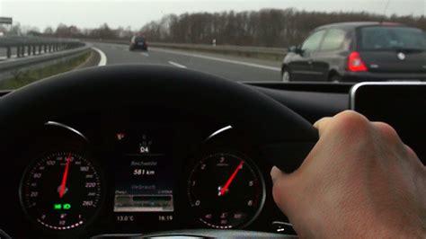mercedes driver mercedes c220 cdi w205 onboard drive on autobahn