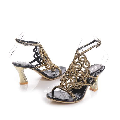 black silver high heels popular gold strappy heels buy cheap gold strappy heels