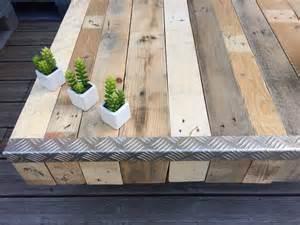table basse en bois de palette et corni 232 re 233 tal meubles