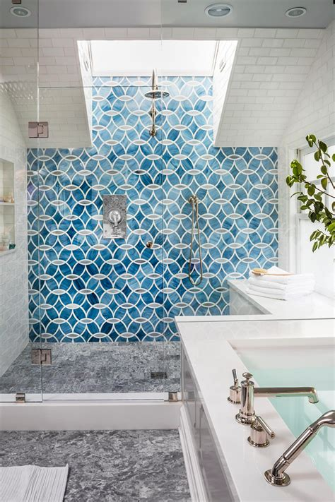 blaue fliesen top 20 bathroom tile trends of 2017 hgtv s decorating