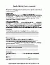 Printable Maternity Leave Agreement Printable Familyeducation Maternity Leave Contract Template
