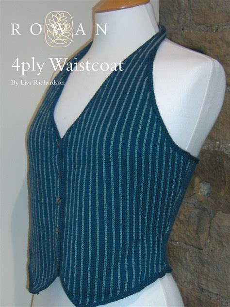 knitting pattern waistcoat 4 ply waistcoat pattern knit rowan