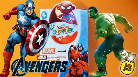 max y los superhroes huevitos kinder sorpresa 2015 superh 233 roes marvel los vengadores youtube