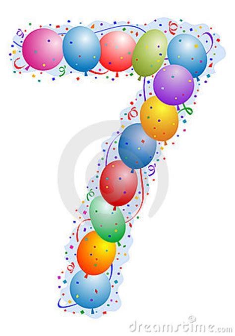balloons  confetti number  stock photo image