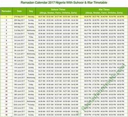Calendar 2018 Nigeria When Is Ramadan 2017 Nigeria With Calendar