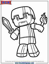 Minecraft Herobrine Coloring Page   H & M Coloring Pages