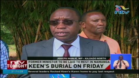 To Be Buried Friday by Keen S Burial On Friday Former Minister To Be Laid To