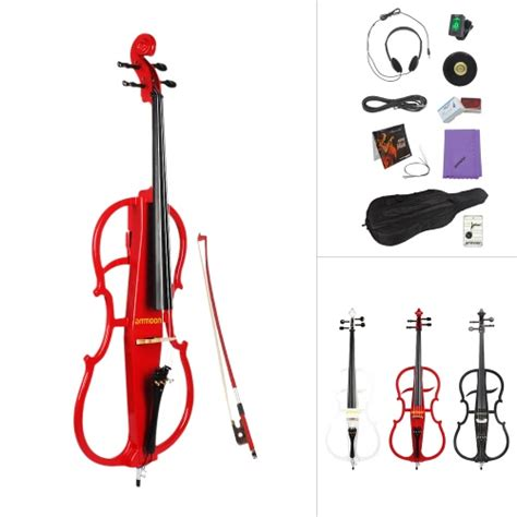 Headset Cello ammoon 4 4 size solid wood electric cello for sale