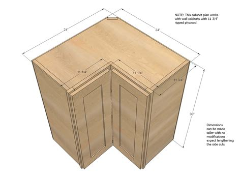 Corner Kitchen Cabinet Plans White Wall Corner Pie Cut Kitchen Cabinet Diy Projects