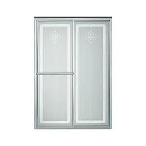 silver shower doors shop sterling deluxe 54 375 in to 59 375 in framed silver