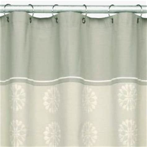 light gray shower curtain o brien modern blossom light gray taupe fabric