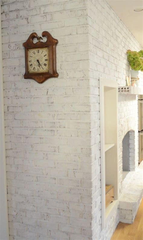 chalk paint on brick sloan paint gives brick an update