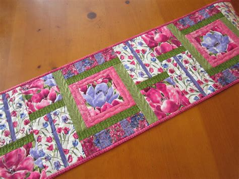 Spring Table Runner Quilted Table Runner By Patchworkmountain Quilted Table Runners