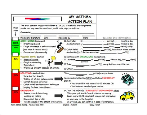 asthma plan template asthma plan template 13 free sle exle format free premium templates