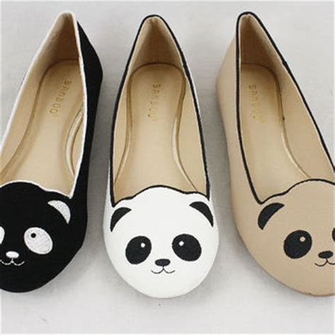 panda flats shoes panda shoes slip on ballet flats with from the fashion