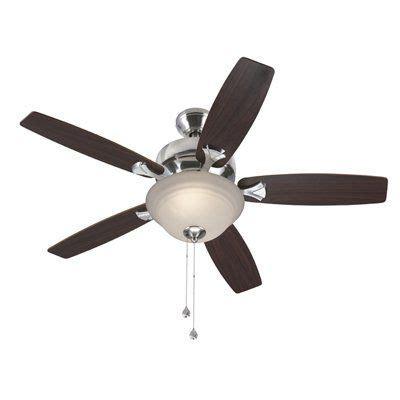 harbor breeze 44 in brushed nickel downrod ceiling fan