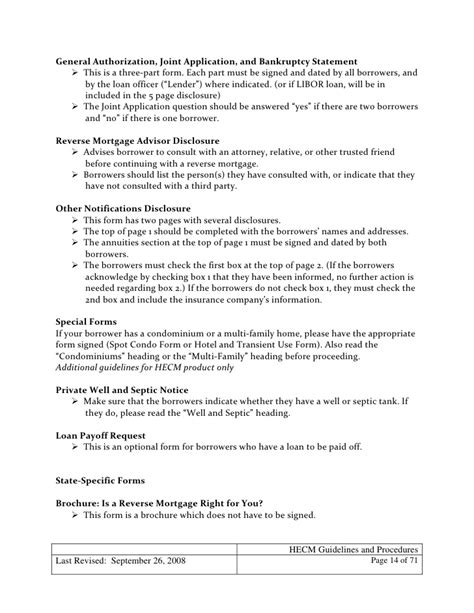 Mortgagee Letter Hecm Mortgage Hecm Loan Guidelines And Procedures