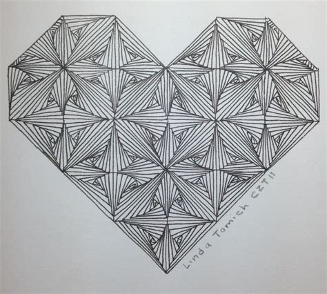 heart zentangle pattern 1000 images about zentangles linda tomich on pinterest