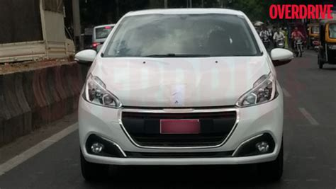 peugeot cars price in india 2017 peugeot 208 hatchback spied in india for the first time