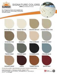 colors for signature colors sundek concrete coatings and concrete