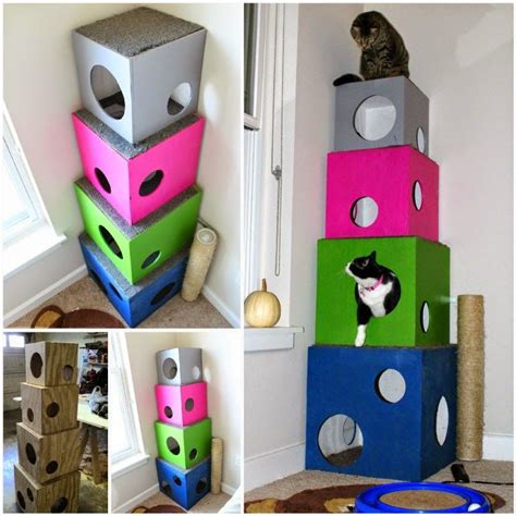 diy cat crafts how to make a diy cat tree pictures photos and images