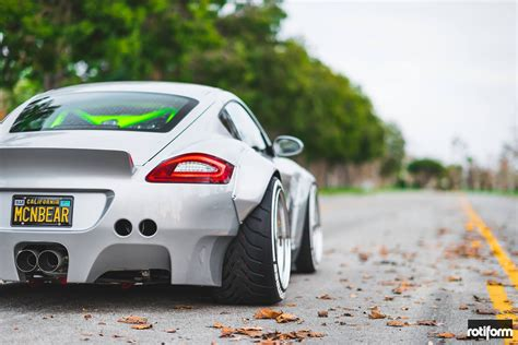 custom porsche custom porsche cayman stuns with its ott widebody kit