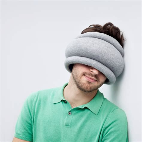 Sleeping Helmet Pillow by The Ostrich Pillow Light A Unique Combination Neck Pillow And Sleep Mask For More Comfortable