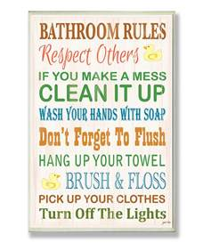 Pics photos bathroom rules plaque jpg