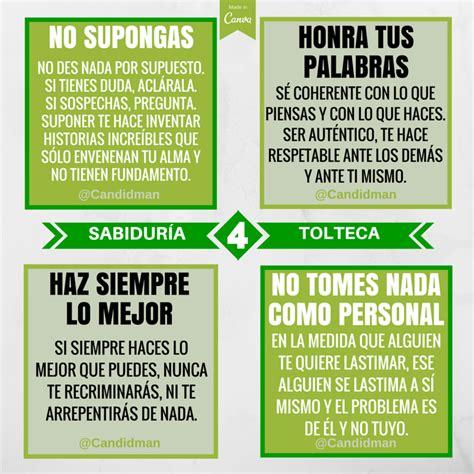 Resumen 4 Acuerdos by Los 4 Acuerdos De La Sabidur 237 A Tolteca Candidman