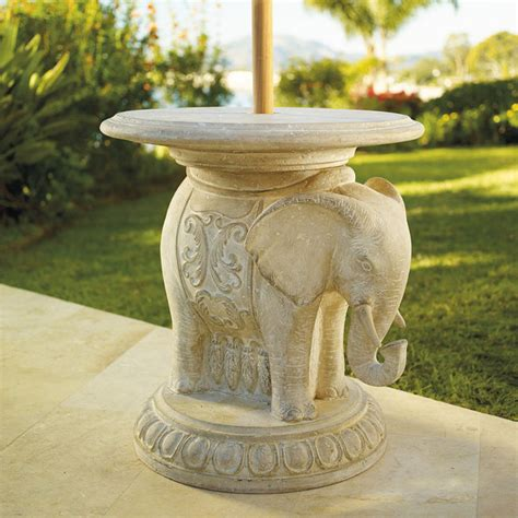 Elephant Patio Umbrella Table Traditional Outdoor Patio Umbrella Stand Table