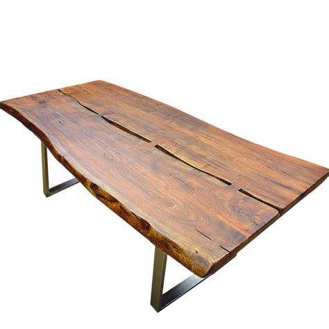 rustic metal and wood dining table live edge acacia wood iron rustic large dining table