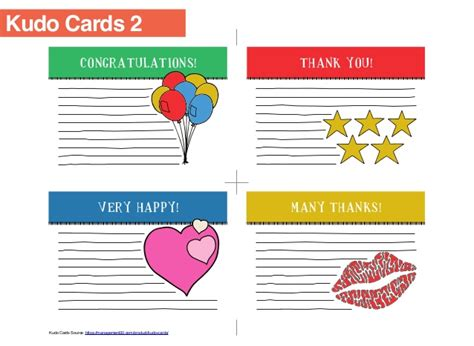 kudo cards templates collaborative agility for students workbook