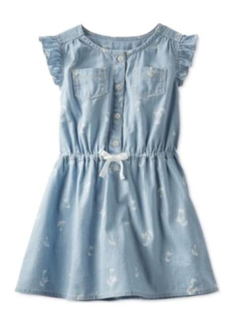 Osh Kos Green Dress oshkosh osh kosh toddler palm print chambray dress dresses shop it to me