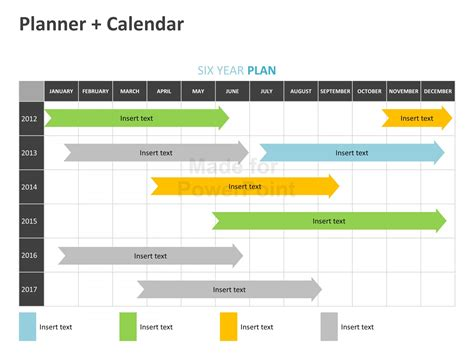Planner Calendar Editable Powerpoint Template Powerpoint Planning Template