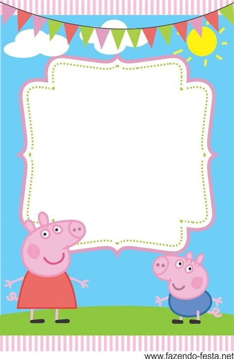 Invitation Peppa Pig You Are Invited Ayush Homam Invitation Template