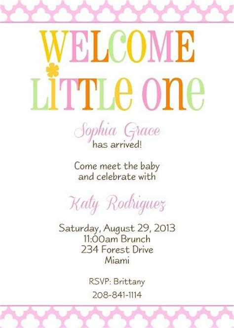 Meet And Greet Baby Shower Ideas by Welcome New Baby Shower Invitation With Pink Floral
