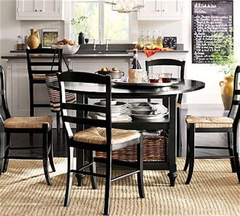 Shayne Kitchen Table Shayne Drop Leaf Kitchen Table Black Pottery Barn