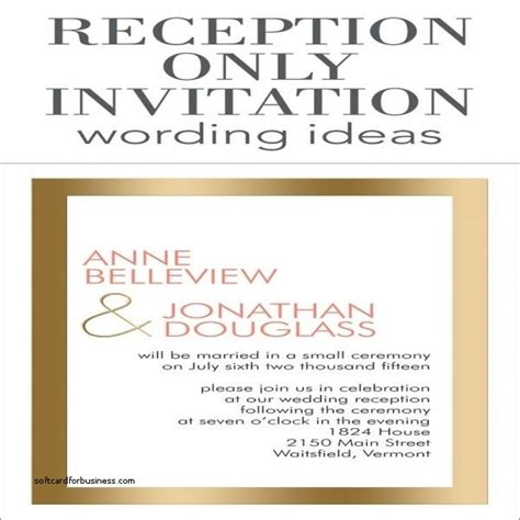 reception invitation wording after a private wedding wedding invitation elegant wedding reception invitation
