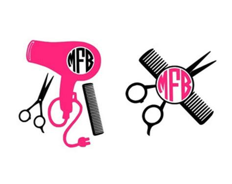 Hair Dryer Cutting Sticker shears decal etsy