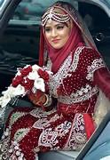 Hijab with Pakistani Wedding Dress