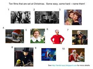 Christmas some easy some hard name them see http landor quiz