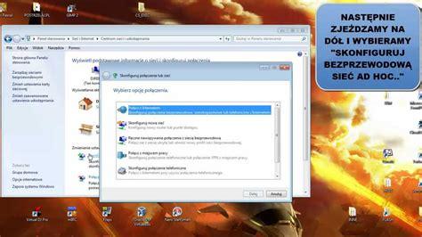 tutorial internet gratis wifi tutorial win7 jak nadawać sygnał wifi internet z