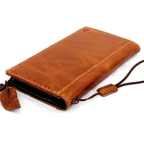 Handmade Leather Cases - genuine italy real leather for iphone 6 plus book