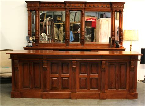 10 mahogany front back bar antique replica