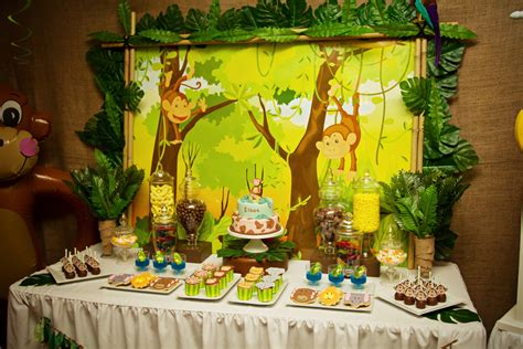 jungle theme decorations of cake ethan s 5th birthday monkey jungle