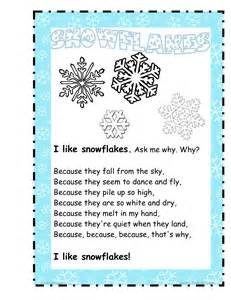 Snowflake poems snowflakes