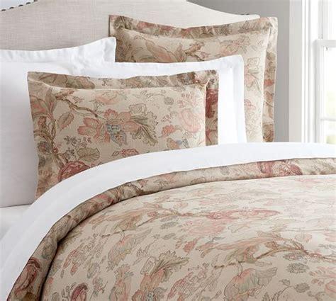 pattern texture duvet grace floral linen texture duvet cover sham pottery barn