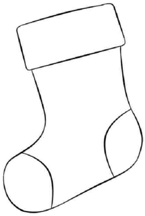 christmas stocking coloring page template christmas stocking coloring pages designcorner