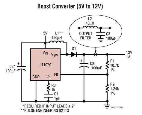 12v to 5v resistor circuit solutions lt1071 boost converter 5v to 12v